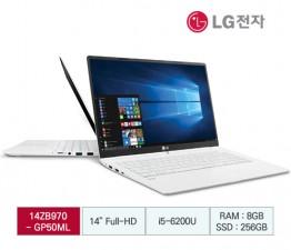 [LG전자] LG 그램 14(올데이 Win7 호환) 14ZB970-G.AP50ML [스노우 화이트]