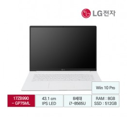 [LG전자] LG gram 17 B2B전용 17ZB990-GP75ML